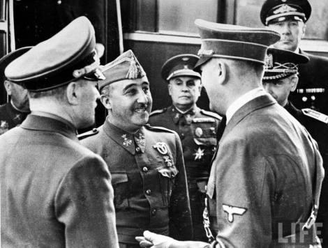 Franco y Hitler se reúnen en Hendaya (23 de octubre de 1940)