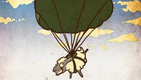Caricatura sobre los acontecimientos de la II Guerra italo-etíope