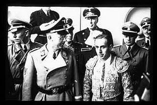 Heinrich Himmler y el torero Marcial Lalanda